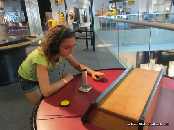 Experiment with sound at Great Lakes Science Center