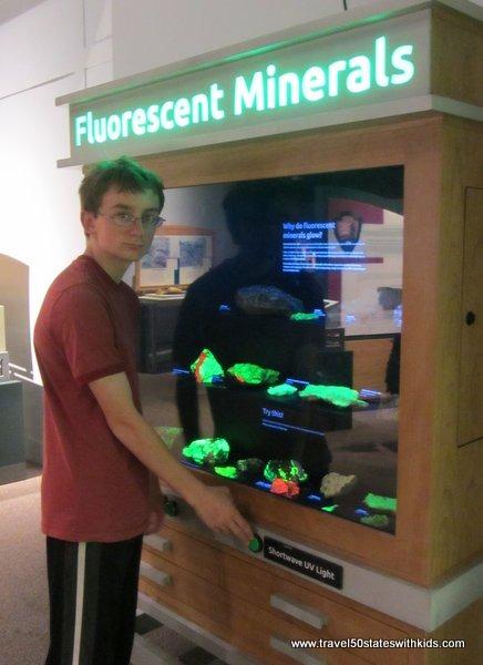 Fluorescent rocks OMSI