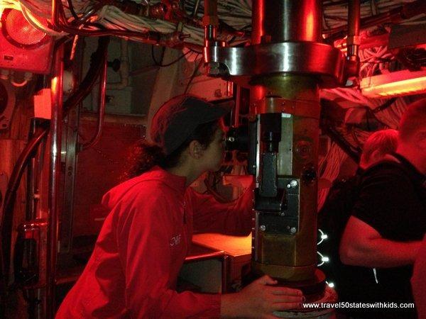 Periscope on USS Blueback