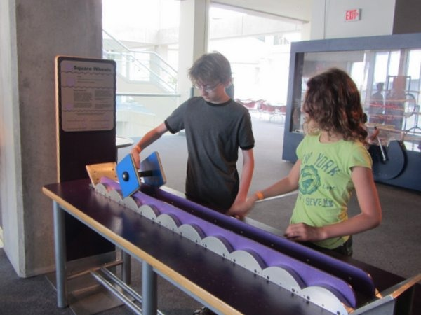 Roll a square wheel at the Great Lakes Science Center