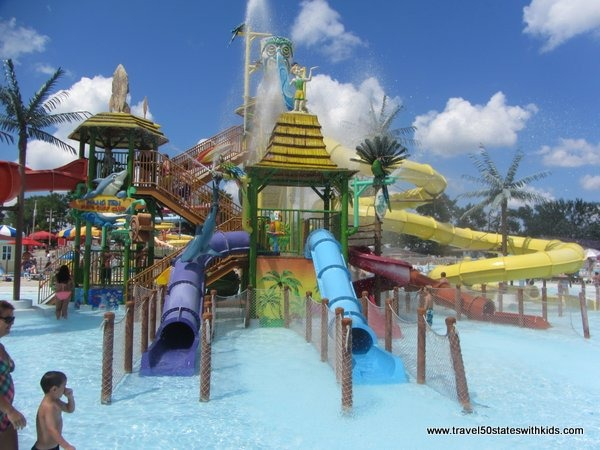 Small slides at Beech Bend Splash Lagoon