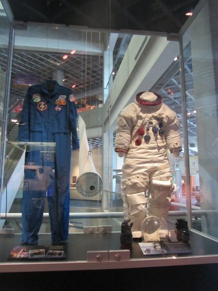 Spacesuits at Great Lakes Science Center