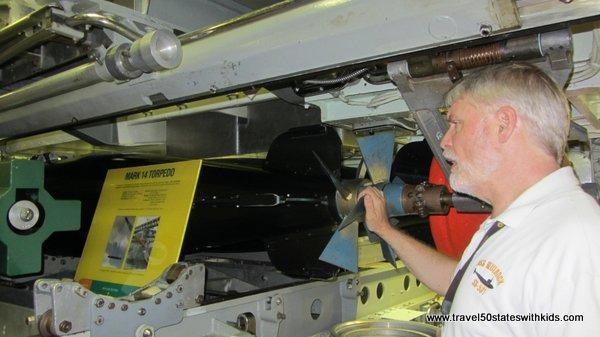 Submarine torpedoes at OMSI