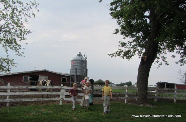 Amish farm children