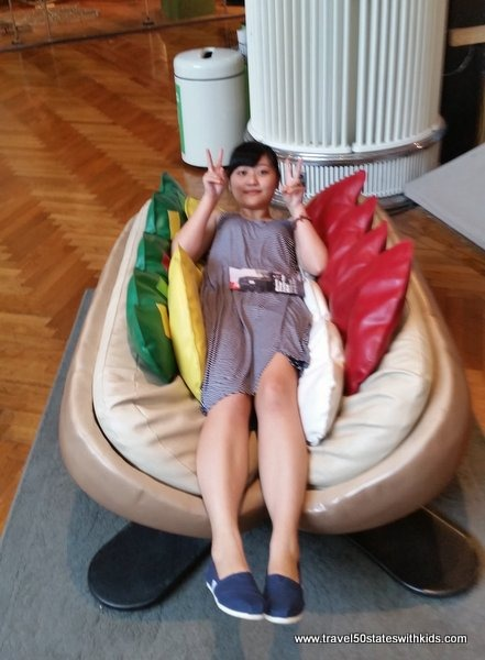 Human hot dog at Henry Ford Museum