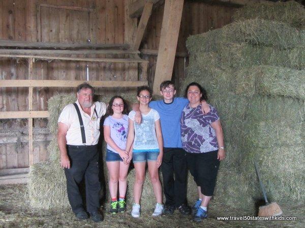 Inside an Amish barn Indiana