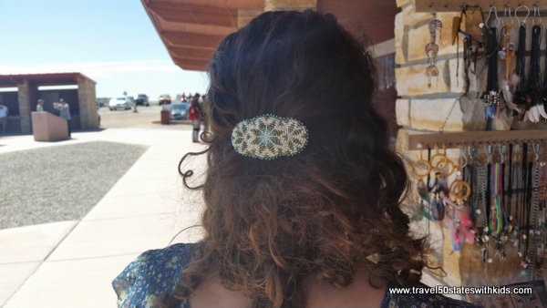 Navajo beaded hair barrette at Four Corners Monument