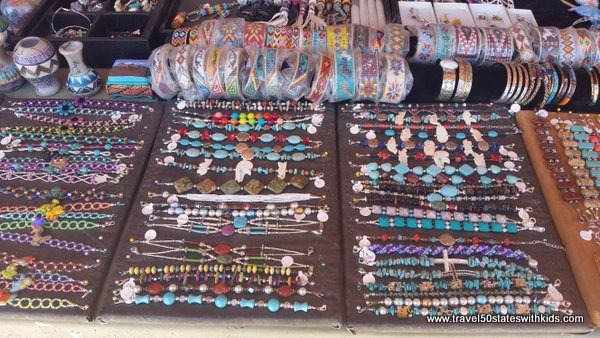 Navajo jewelry at Four Corners