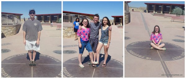 Posing at Four Corners Monument-001
