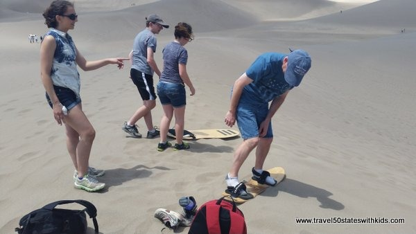 Sandboarding and sledding at Great Sand Dunes National Park