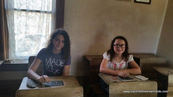 School desks - El Rancho de las Golondrinas