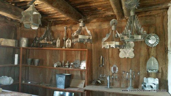 Tin work at El Rancho de las Golondrinas