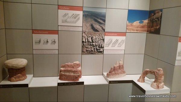 Canyonlands rock formation exhibit