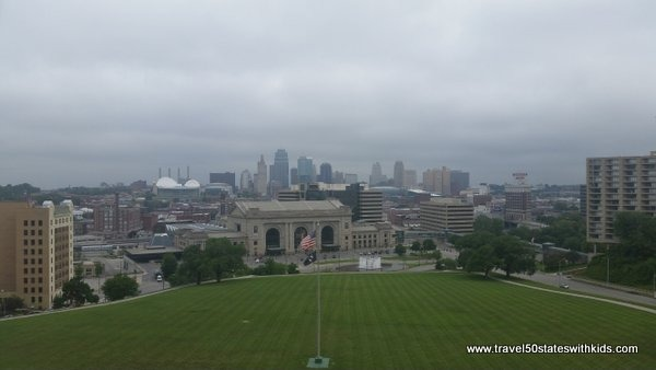 View of Union Terminal and Kansas City Skyline from Liberty Memorial