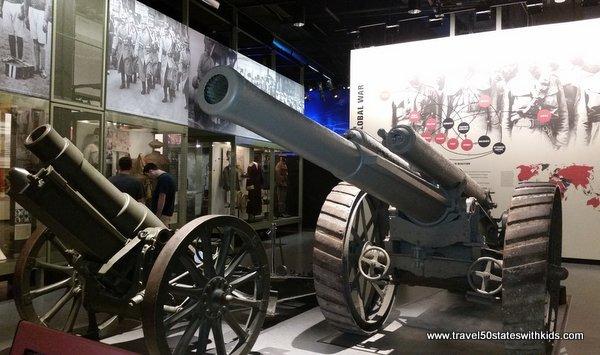 WWI Museum artillery