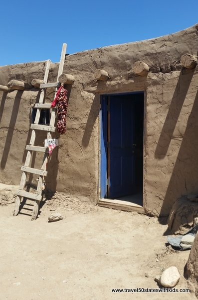 Adobe house at Taos Pueblo