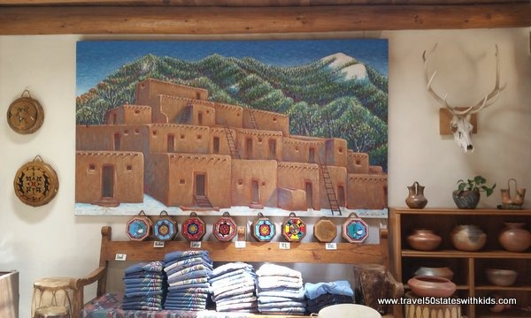 Arts and crafts for sale at Taos Pueblo