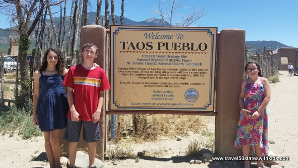 Taos Pueblo Sign