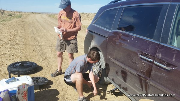 When trips don't go as planned – stuck in the desert